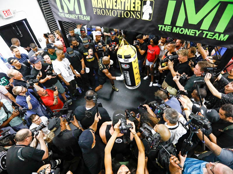 Floyd Mayweather Media Workout